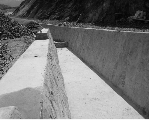 Permanent Clean Water Aqueduct Incorporating Traditional Peruvian Rock Placement Techniques.